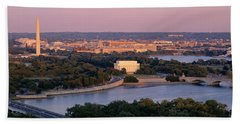 Aerial, Washington Dc, District Of Hand Towel