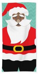 African American Santa Claus Hand Towel