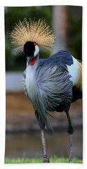 African Crowned Crane Running Bath Towel