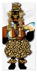 Hand Towel featuring the digital art African Dancer 2 by Marvin Blaine