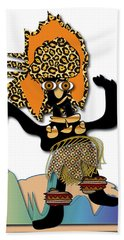 Hand Towel featuring the digital art African Dancer 6 by Marvin Blaine
