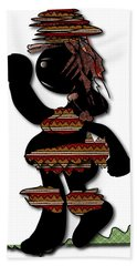 Hand Towel featuring the digital art African Dancer 7 by Marvin Blaine