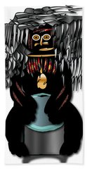 Hand Towel featuring the digital art African Drummer 2 by Marvin Blaine