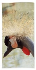 African Grey Crowned Crane Bath Towel