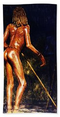 Bath Towel featuring the painting African Lady by Hartmut Jager
