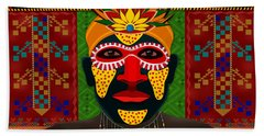African Tribesman 1 Hand Towel