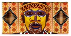 African Tribesman 2 Hand Towel