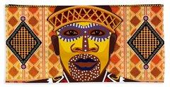 African Tribesman 2 Bath Towel