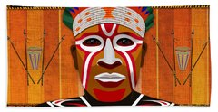 African Tribesman 3 Hand Towel