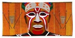 African Tribesman 3 Bath Towel
