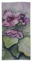 African Violets Hand Towel