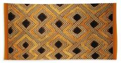 Bath Towel featuring the digital art African Zaire Congo Kuba Textile by Vagabond Folk Art - Virginia Vivier