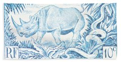 Afrique Rhino Bath Towel