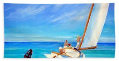 After Hopper- Sailing Hand Towel