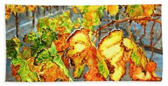 After The Harvest Hand Towel by Karen Ilari