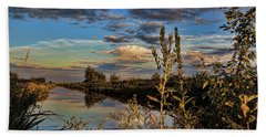 Late Afternoon In The Mead Wildlife Area Hand Towel