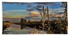 Late Afternoon In The Mead Wildlife Area Bath Towel