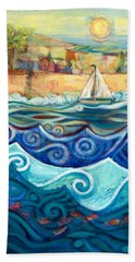 Afternoon Sail Hand Towel