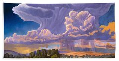 Bath Towel featuring the painting Afternoon Thunder by Art James West