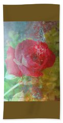 Ageless - Rose - Manipulated Images Hand Towel