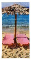 Agrari Beach In Mykonos Island Bath Towel