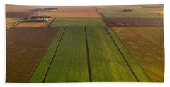 Agriculture - Aerial, Sugar Beet Fields Hand Towel