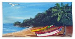 Aguadilla Beautiful Beach Hand Towel by Luis F Rodriguez
