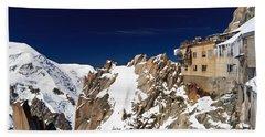 Aiguille Du Midi -  Mont Blanc Massif Hand Towel by Antonio Scarpi