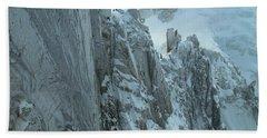 Aiguille Du Midi Mount Blanc Bath Towel by Frank Wilson
