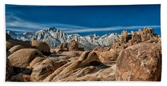 Alabama Hills And Mt. Whitney Hand Towel