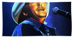Alan Jackson Painting Bath Towel