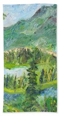 Alaska  Mountain Range Hand Towel