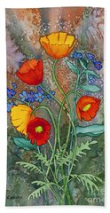 Alaska Poppies And Forgetmenots Hand Towel