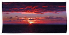 Alaskan Sunset Hand Towel by Bob Hislop