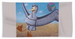 Albatross Landing Hand Towel by Susan Williams