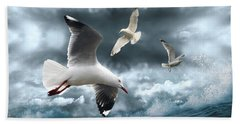 Albatross Bath Towel by Linda Lees