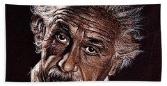 Albert Einstein Portrait Hand Towel