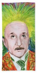 Albert Einstein Hand Towel by Yoshiko Mishina