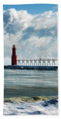 Algoma Pierhead Lighthouse Bath Towel