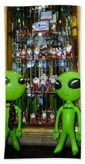 Alien Christmas Tour Bath Towel