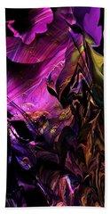 Hand Towel featuring the digital art Alien Floral Fantasy by David Lane