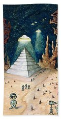 Alien Invasion - Space Art Painting Hand Towel