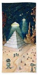 Alien Invasion - Space Art Painting Bath Towel