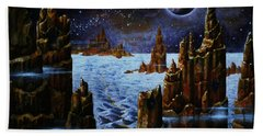 Ice And Snow  Planet  Bath Towel