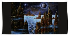 Ice And Snow  Planet  Hand Towel