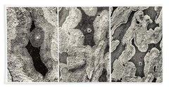 Alien Triptych Landscape Bw Hand Towel