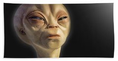Alien Yearbook Photo Bath Towel