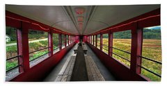 Bath Towel featuring the photograph All Aboard Tioga Central Railroad by Suzanne Stout