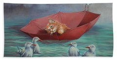 Bath Towel featuring the painting All At Sea by Cynthia House