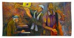 All That Jazz Bath Towel by Loretta Luglio
